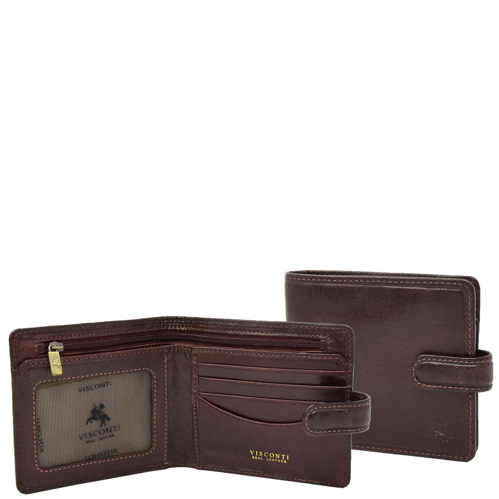 Mens RFID Slim Fold Leather Wallet Eastbourne Brown