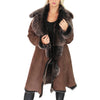 shearling fur coat for womens