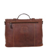 Mens Leather Bag Vintage Style Briefcase Shores Brown 1
