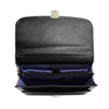 Mens Faux Leather Flap Over Briefcase Windsor Black 5