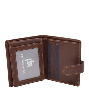 Small Leather Credit Card Wallet Mario Brown 3