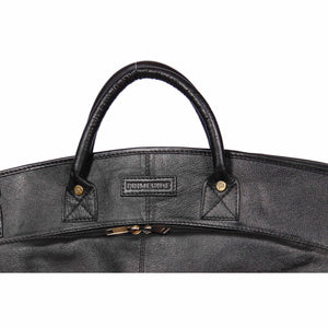 medium size leather weekend bag