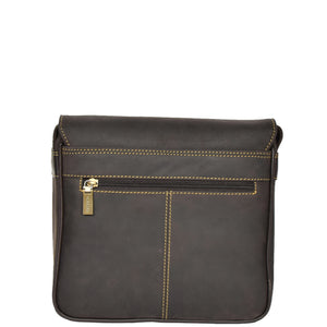leather bag for mens with a back zip pocket