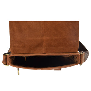 leather bag with an inside zip pocket