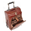 leather suit carrier with laptop pockets