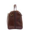 Genuine Leather Travel Holdall Overnight Bag HL015 Brown 2
