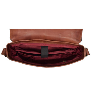 mens leather bag with a laptop section