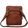 Mens Leather Cross Body Classic Flight Bag Ashton Tan 1