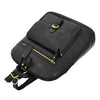 Womens Leather Casual Mid Size Backpack Doris Black 4