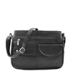 Womens Leather Small Cross Body Organiser Bag HOL005 Black 2