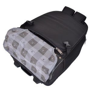 Backpack with wheels cover