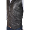 sheep nappa leather waistcoat for men's