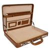 Traditional Croc Print Attaché Case HOL87 Brown 4