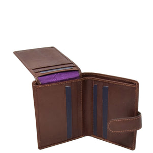 Small Leather Credit Card Wallet Mario Brown 4