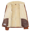 Womens Sheepskin Mid Length Coat Scarlett Whiskey 5