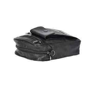mens bag with a zip opening