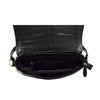 Womens Leather Cross Body Handbag Mila Black inside