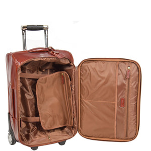 cabin size suitcase with packing straps
