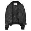 Womens Leather Varsity Quilted Bomber Jacket Sally Black 6