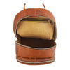 Large Classic Casual Leather Backpack Palermo Tan 5