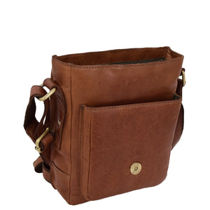 Mens Leather Cross Body Flight Bag Oldenburg Tan 4