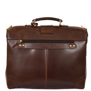 leather organiser bag with grab handle