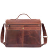 Mens Leather Cross Body Flap Over Briefcase Marland Brown 1
