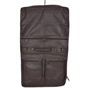 leather travel weekend bag