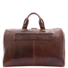 Genuine Leather Travel Holdall Overnight Bag HL015 Brown 3