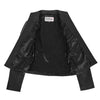 Womens Leather Casual Standing Collar Jacket Ivy Black 5