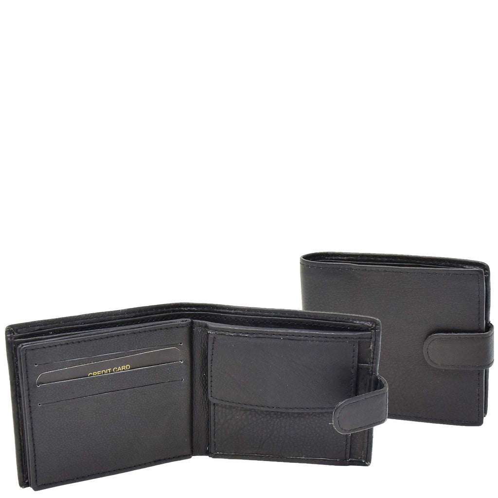 Mens Bifold Leather Notecase Wallet Pablo Black