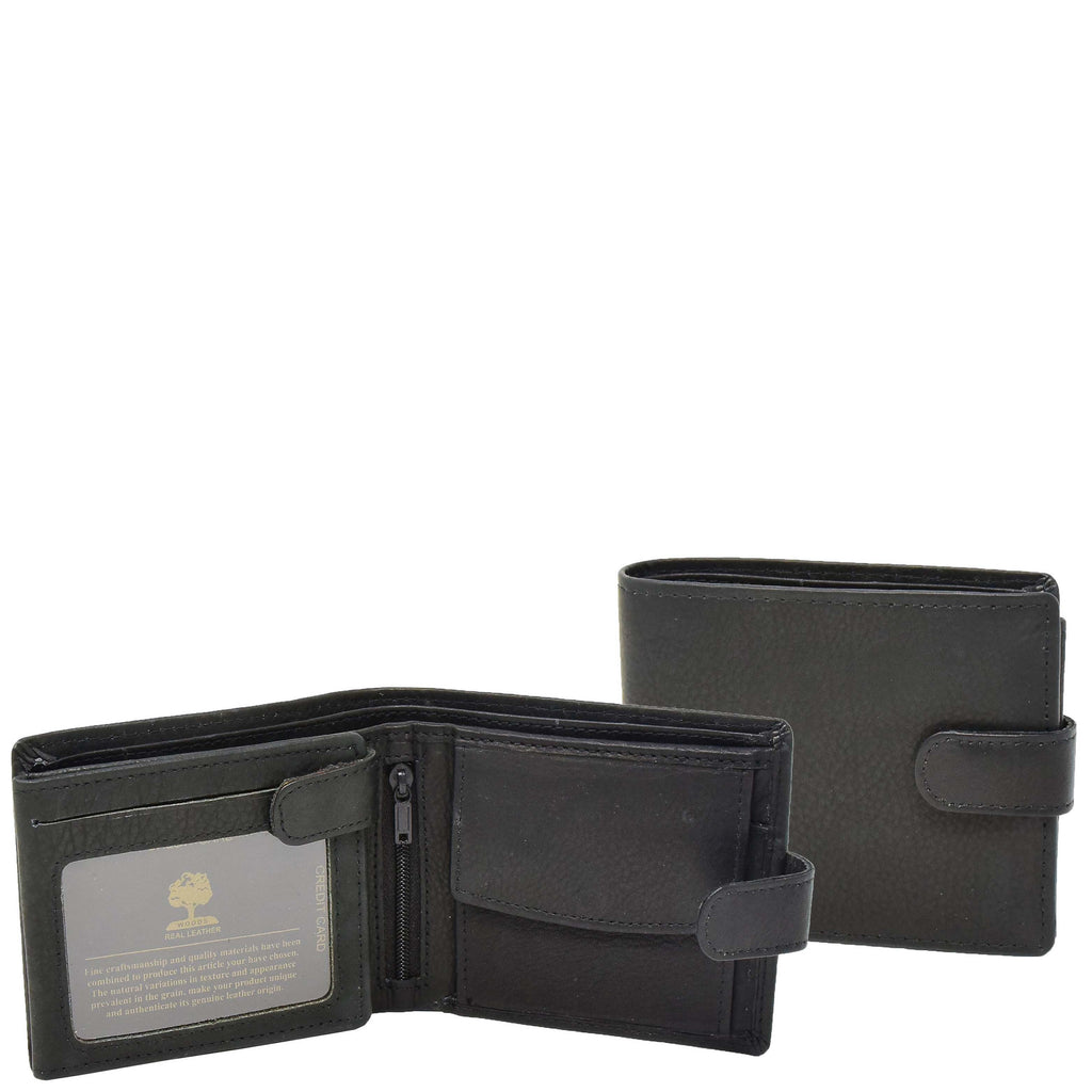 Mens Wallet with a Buckle Closure Hawking Black