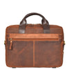leather briefcase with twin grab handles