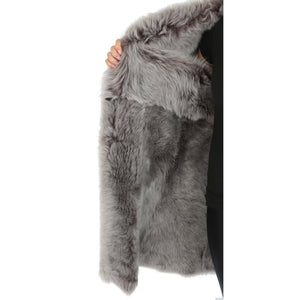 shearling fur lined coat for womens