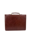 Mens Faux Leather Flap Over Briefcase Windsor Brown 1