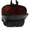 Womens Leather Casual Mid Size Backpack Doris Black 5