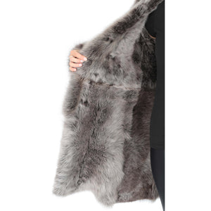 real fur lined coat for women's