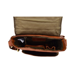 Mens Leather Cross Body Flight Bag Oldenburg Tan 5