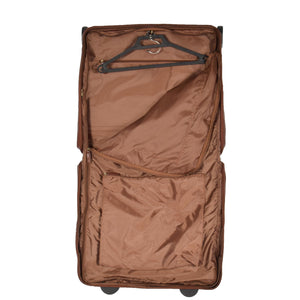 leather suit carrier with hanger