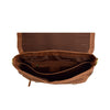 Mens Leather Cross Body Flap Over Briefcase Caleb Tan inside