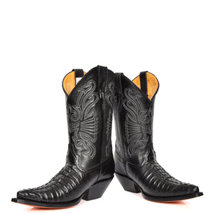 mens black leather luxury boots