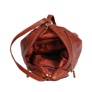 ladies rucksack with inside zip pockets