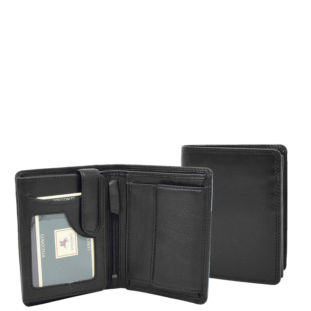 Mens Soft Leather Large Size Wallet Metis Black