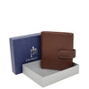 Small Leather Credit Card Wallet Mario Brown 5