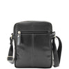 Mens Leather Cross Body Flight Bag Belgrade Black 1