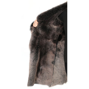 ladies coat with fur lining