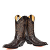 western style leather calf length boots
