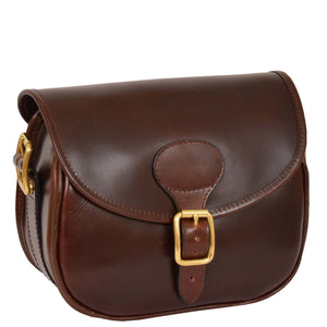 leather cartridge bag with detachable strap