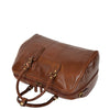Zip Around Leather Travel Holdall Monaco Tan