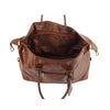 Real Leather Travel Holdall Large Size Duffle Perugia Tan 6